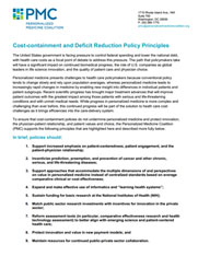 PMC Cost-containment and Deficit Reduction Policy Principles (PDF)